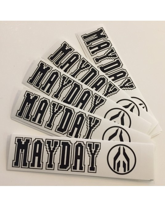 MAYDAY| Set of stickers Black