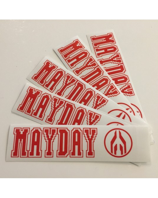 MAYDAY | 5 naklejek Red