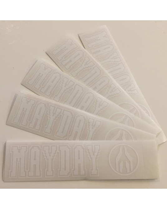 MAYDAY| Set of stickers White