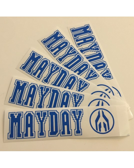 MAYDAY| Set of stickers Blue