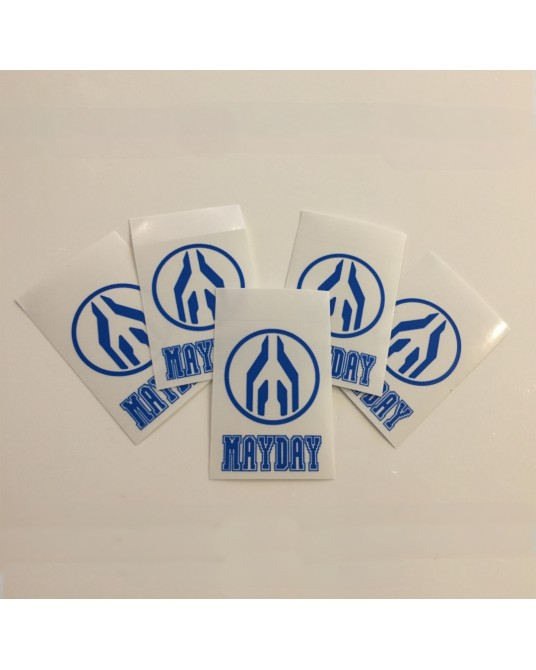 MAYDAY| Set of stickers Blue_2